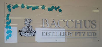 Bacchus reception sign