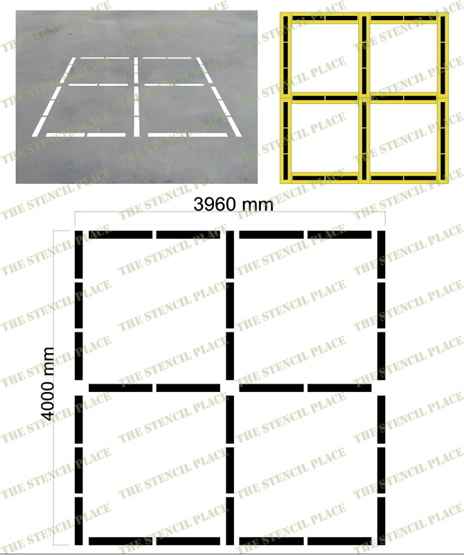 4 SQUARE STENCIL SET - 1.5mm